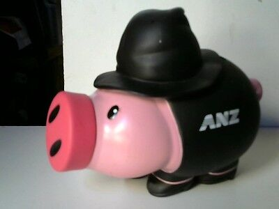 ANZ Pink Pig Money Box  With Witch's Black Hat and Black Clothes/Shoes