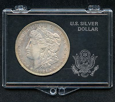 "1921 United States ""Morgan"" Silver Dollar (26.73 grams .900) In Case"