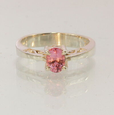 Burma Pink Spinel Gemstone Handmade Silver Ajoure Filigree Ladies Ring size 4.75