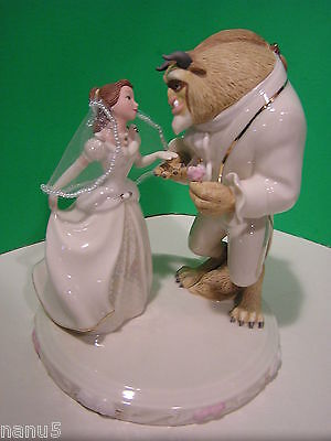 LENOX BELLE'S WEDDING DREAMS CAKE TOPPER Beauty and the Beast NEW in BOX withCOA