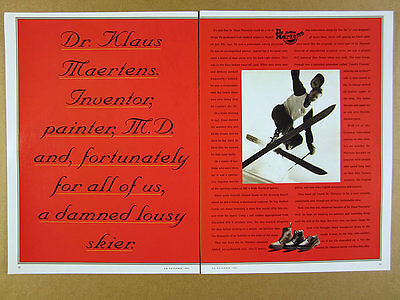 1993 Dr. Doc Martens boots shoes Invention origin story vintage print Ad