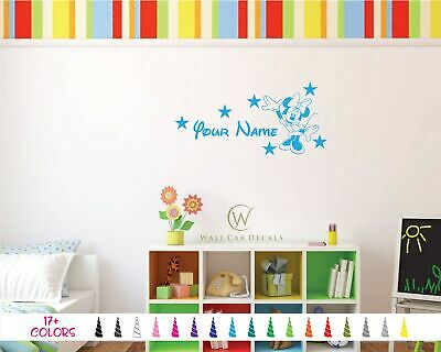 Personalized Minnie Mouse Custom Girl Name Bedroom Wall Saying Vinyl Decal