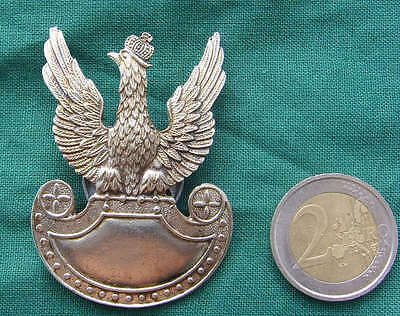 Polish WHITE EAGLE badge wz. 1919 with crown SEPTEMBER WAR 1939 WWII POLAND ARMY