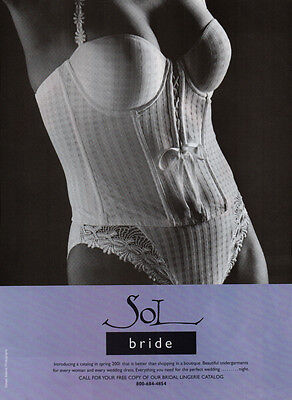 Modern print lingerie AD, SOL Undergarments for wedding dresses  AD, 100314
