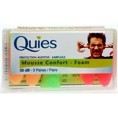 Quies Protection Auditive - Earplugs -3 Pairs