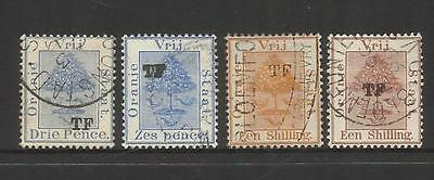 """Rsa South Africa Orange Free State~ 1883+ Telegraph Stamps """"t.f."""" Used"""