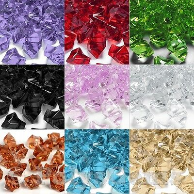 Wedding Table Scatter Crystal Clear Acrylic Ice Chunks Vase Fillers