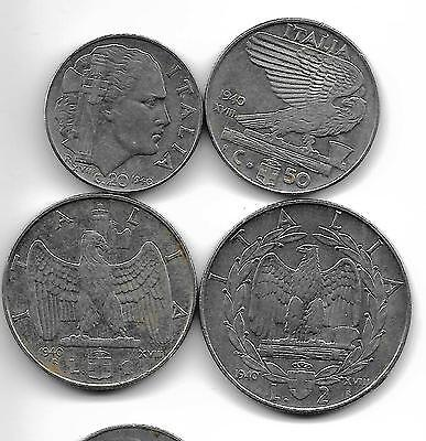 Italy 1940R Lot Of 4 Coins