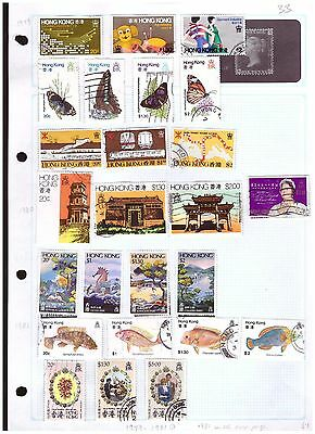 Hong Kong mostly fu  ranges from old collection (5) cat £33