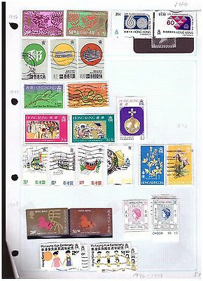 Hong Kong mostly fu  ranges from old collection (4) cat £46