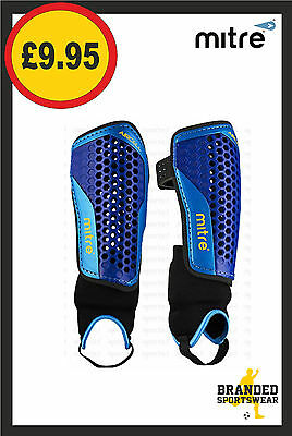 Mitre Aircell Carbon Shin & Ankle Guards/Pads Kids/Mens Blue Size XS/S/M/L NEW