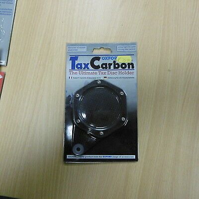Oxford Real Carbon Tax Disc Holder Parking Permit Work Pass Holder