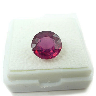 4.59 ct. Runder Top Pink Roter 9.5 mm Mosambik Rubin