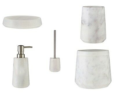 Daily Use Item Lotion Dispenser Soap Dish Marble Off-White Bathroom Accessories