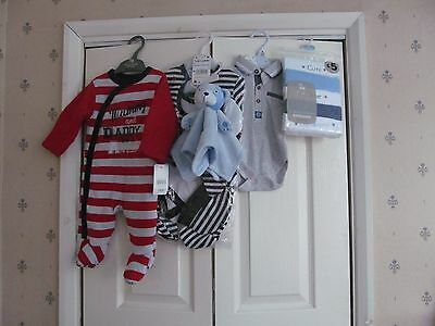 Baby Boy Clothes Bundle Age 0-3 Months Mothercare Tu F&f Tu New (Lot 8)