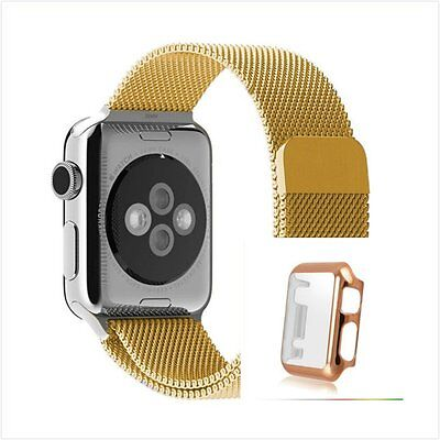 Milanese Gold Magnetic For Apple iWatch Strap Band  42mm Rose Gold x 1