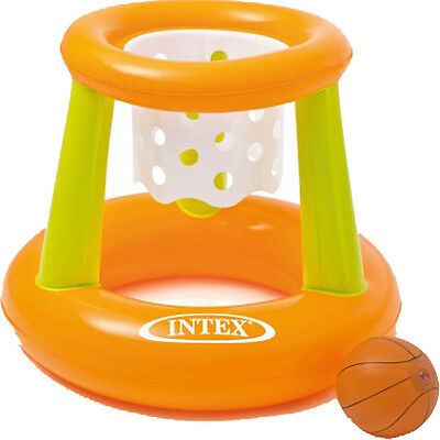 Intex Kids Swimming Pool & Beach Fun Inflatable Floating Basketball Hoop Game