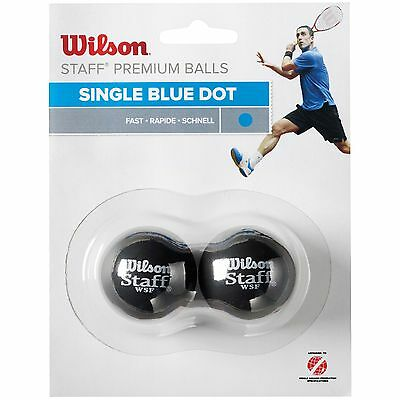 Wilson Staff Fast Blue Dot WSF Approved Squash Balls - Pack of 2