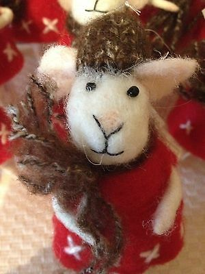 New Cute Pin Felt Needle Felt Collectible Mouse Figure Valentines,Birthday gift