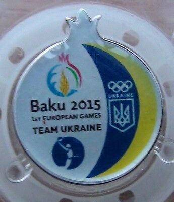 1 European games. Baku in 2016, the basketball team of Ukraine, the official pin