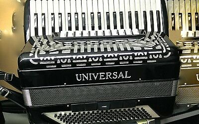 UNIVERSAL accordion fisarmonica 11 register+5 bass register with master orig box