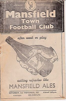 MANSFIELD TOWN  v  OLDHAM ATHLETIC  1957/8.