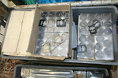 Wholesale job lot shop clearance pack x6 Scented black T lite candles x100