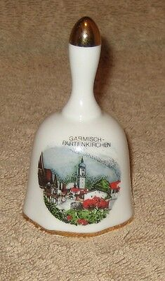 Garmisch-Partenkirchen Collectible Porcelain Hand Bell