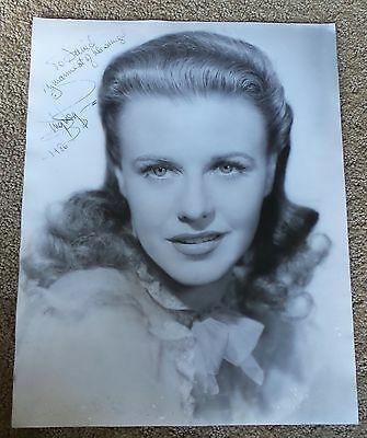 GINGER ROGERS ORIGINAL GREAT 11x14  HAND SIGNED AUTOGRAPH PHOTO PHOTOGRAPH