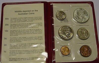 1967 Australian coin set in red mint wallet, coins with lustre, read description