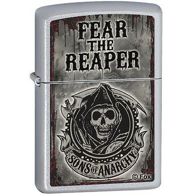 Zippo Sons of Anarchy Fear the Reaper Satin Chrome Pocket Lighter