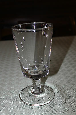 Vintage Clear Glass Heavy Spooner