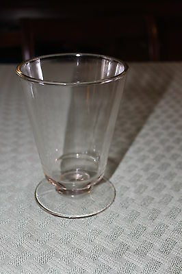 Vintage Clear Glass Spooner made in Three Piece Mold