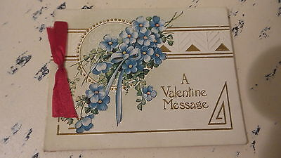 Early Antique Victorian Early VALENTINE GREETINGS CARD BOOKLET