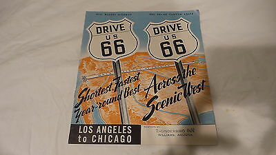Vintage US ROUTE 66 HIGHWAY GUIDE BOOKLET LA to Chicago, Illustrated,Map,