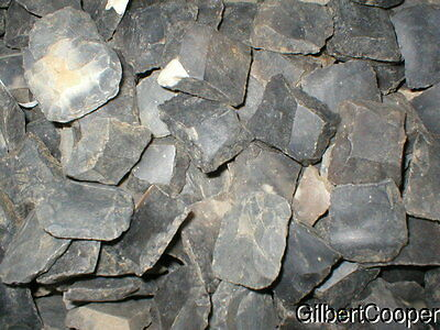 100 English Black Gunflints