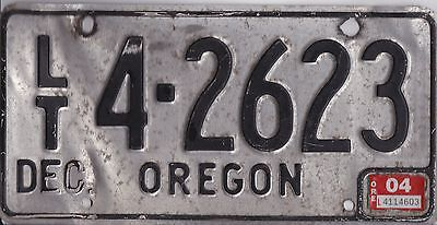 Oregon License Plate, Very Good Used Condition, Unusual.
