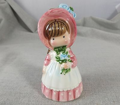 Joan Walsh Anglund Figurine Bell Girl in Pink with Flowers