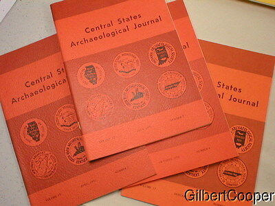1970 CENTRAL STATES ARCHAEOLOGICAL JOURNAL -VOL 17 --1-4  complete year 4 books