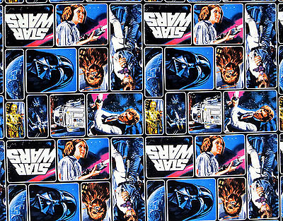 Fat Quarter  Star Wars Comic Fabric 100% Quilt Cotton  Princess Leia Darth Vader