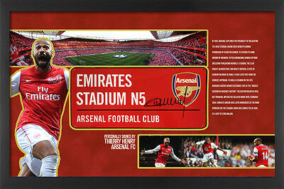 Thierry Henry Signed Arsenal Emirates Stadium Street Sign