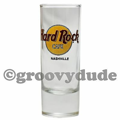 "Hard Rock Cafe Black Letters Nashville 4"" Tall City Shot Glass Cordial HRC New"