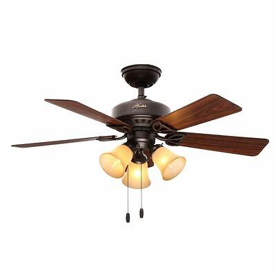 Hunter Beacon Hill 42 in. New Bronze Ceiling Fan with Light