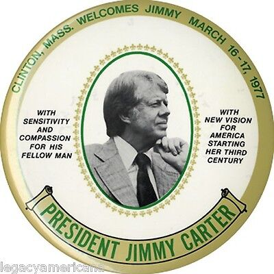 1977 Inaugural Jimmy Carter NEW VISION 6-Inch Button / Wall Plaque (4379)