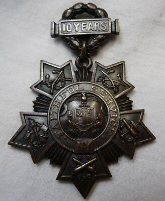 New York National Guard Medal Tiffany & Co 10 Years Faithful Service #'d 5378