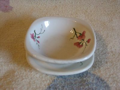 Vintage Trend Syracuse Cup And Saucer Restaurant Ware, Pink Flower