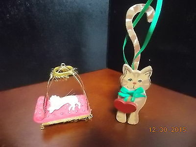 2 Kitty Ornaments 1 of them Hallmark