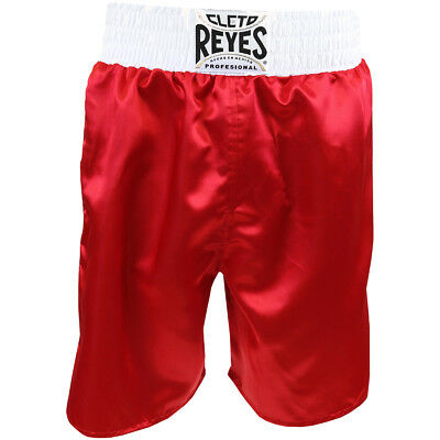 Cleto Reyes Satin Classic Boxing Trunks - Red/White