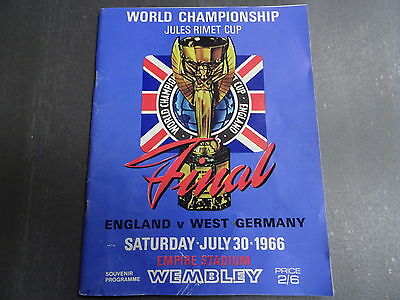 1966 World Cup Final REPLICA Programme. England v West Germany + 1966 & All That