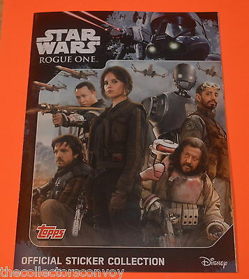Topps STAR WARS ROGUE ONE Sticker Collection = 200 stickers SET+Album+2 Packs